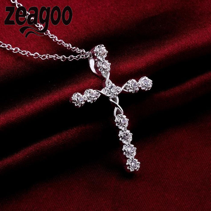 Crystal Christian Cross Necklace