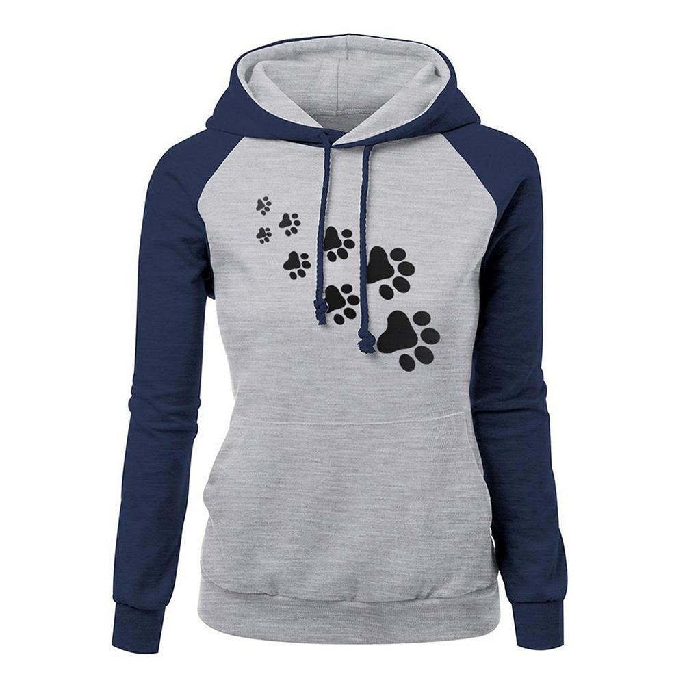 Women's Dog Paw Print Hoodies