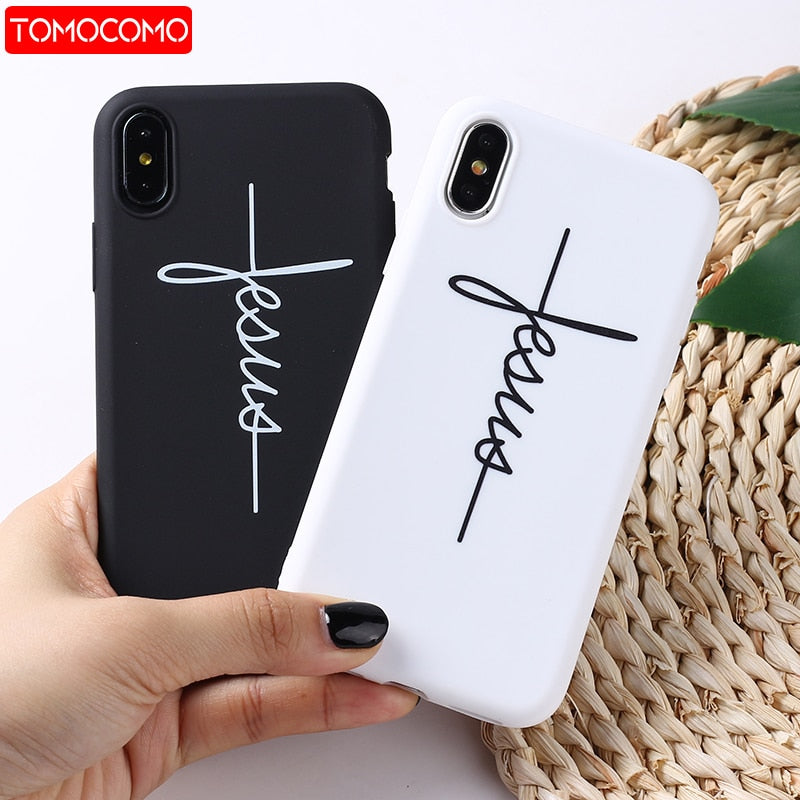 """Jesus""/""Faith"" Cross Frosted Matte Phone Case/Cover (iPhone)"