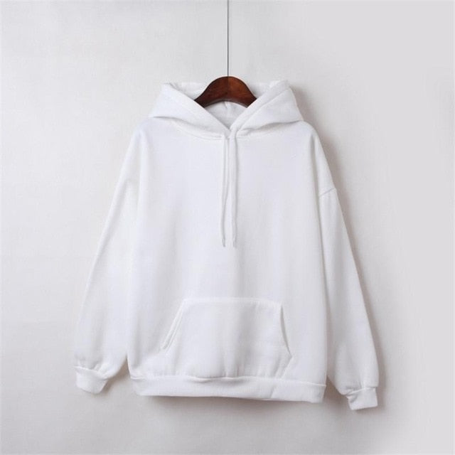 Solid Color Harajuku Hoodies