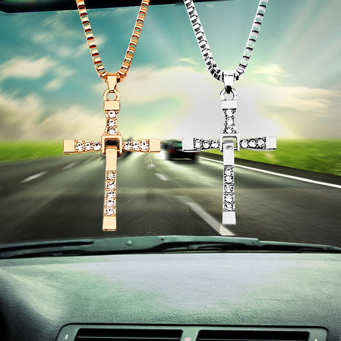 Christian Cross Car Interior Pendant - Rearview Mirror Hanging Ornament