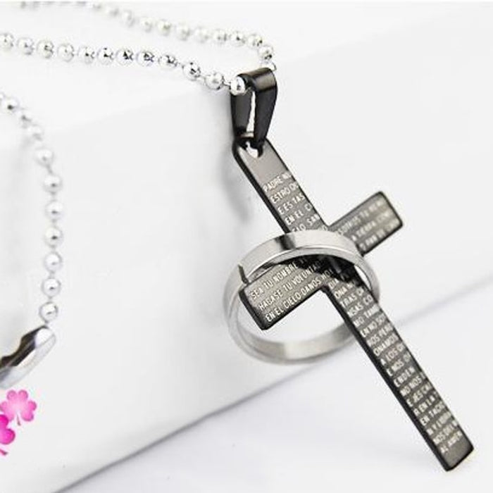 Stainless Steel Christian Cross Necklace