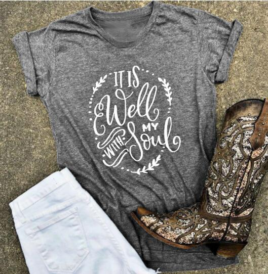 """It Is Well With My Soul"" Christian T-Shirt"