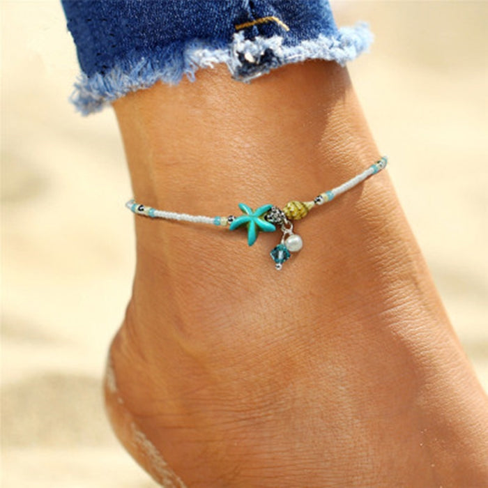 Bohemia Starfish Charms Beach Anklet