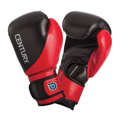 Century Drive Youth Boxing Gloves 8oz-Black/Red-8oz