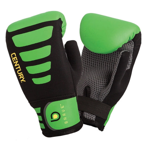 Century Brave Neoprene Youth Bag Gloves-Black/Green