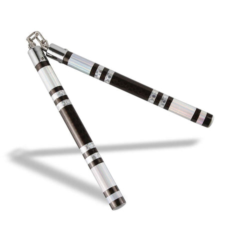 Bytomic Striped Chrome Competition Training Nunchaku