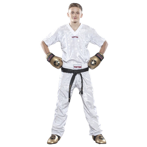 Top Ten Mesh Kickboxing Pants White Adult