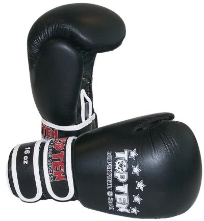 Top Ten Superfight 3000 Boxing Gloves-Black-16oz