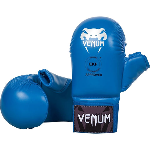 Venum WKF Approved Karate Mitts With Thumb Blue