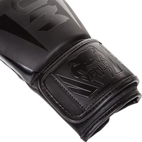 Venum Elite Neon Boxing Gloves Matte Black
