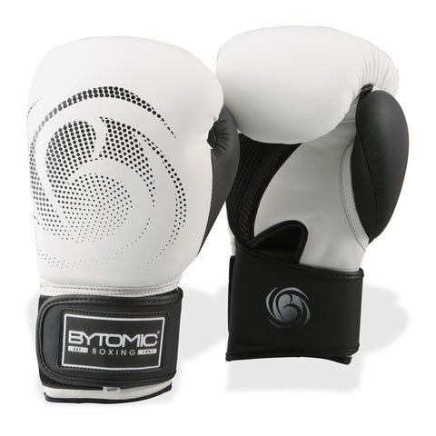 Bytomic Legacy Leather Boxing Gloves White