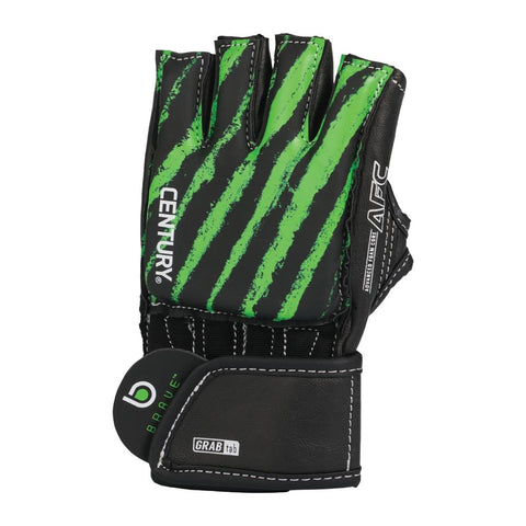 Century Brave Youth Open Palm Gloves Black/Green