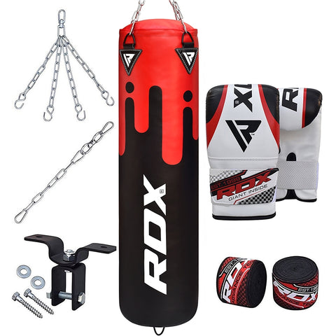 RDX F9 8PC Punch Bag with Bag Mitts Filled 5 ft