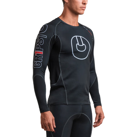Gr1ps Armadura 2.0 Long Sleeve Rash Guard Black/White