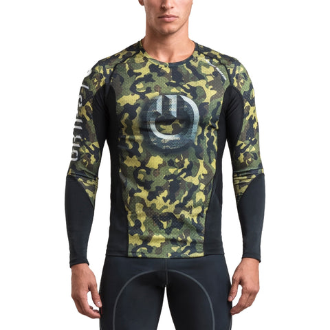 Gr1ps Armadura 2.0 Long Sleeve Rash Guard Woodland Camo