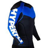 Hyperfly ProComp Supreme Long Sleeve Rash Guard Blue
