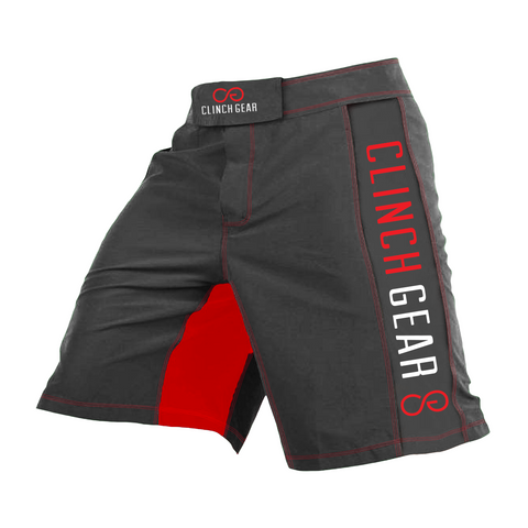 Clinch Gear Crossover 3 Flash Shorts Pewter/Red