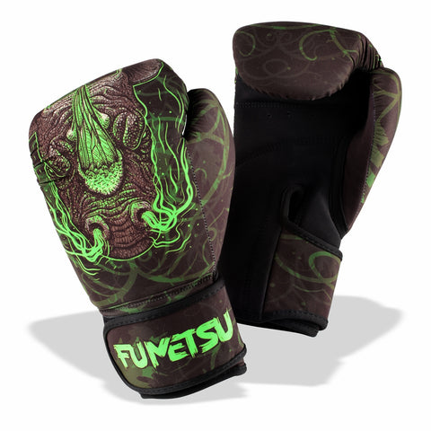 Fumetsu Rampage Washable Boxing Gloves Black/Green