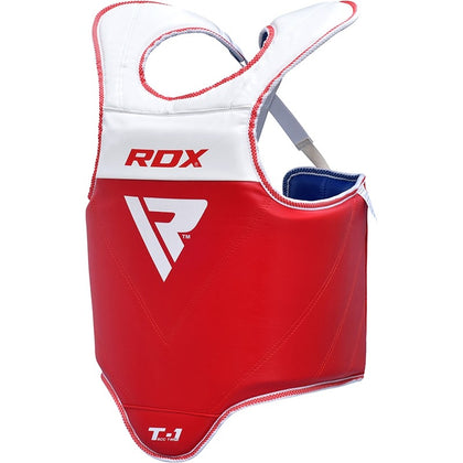 RDX T1 Taekwondo Chest Guard Extra Small Red Blue