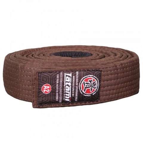 Tatami Fightwear Ranked BJJ Gi Belt Brown