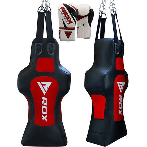 RDX TD Face Heavy Punch Bag With Gloves Filled 12oz