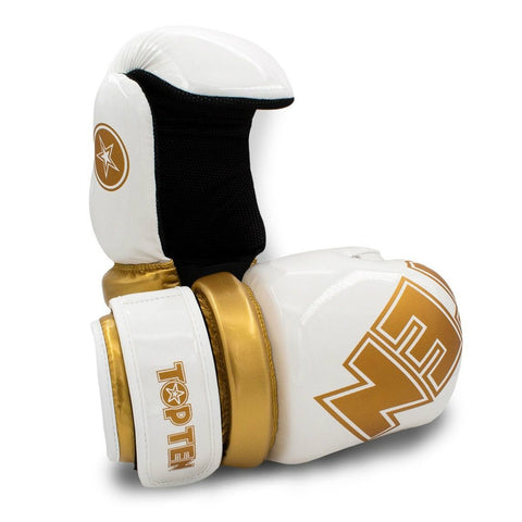 Top Ten Glossy WAKO Pointfighter Gloves White/Gold
