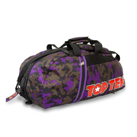 Top Ten Sportbag/Backpack Purple/Camo