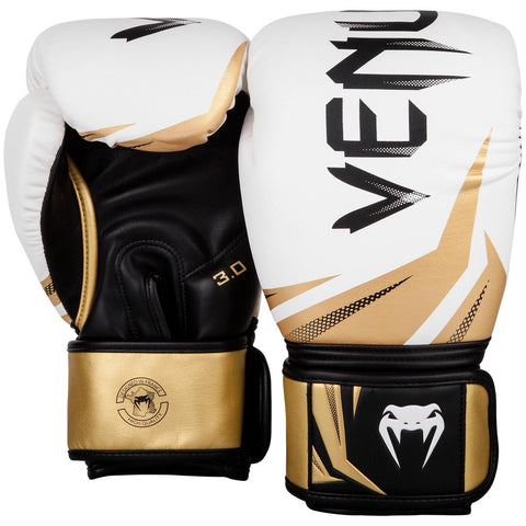 Venum Challenger 3.0 Boxing Gloves White/Black/Gold