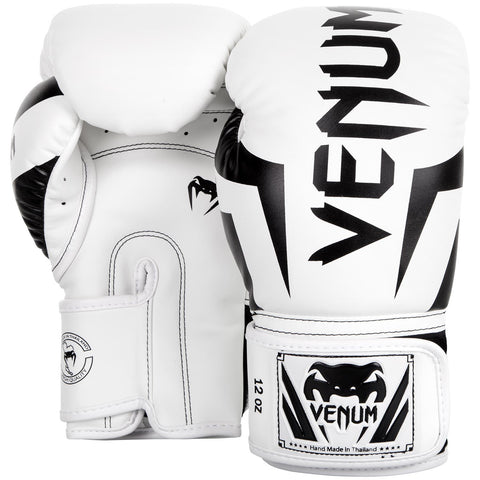 Venum Elite Boxing Gloves White/Black