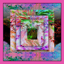 Load image into Gallery viewer, ALICE BEYOND NATURE'S LOOKING GLASS SILK SCARF