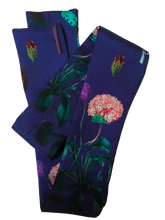Load image into Gallery viewer, Blasted Flower Silk Neckie scarf Willow and Wyrd