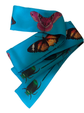 Load image into Gallery viewer, Butterflies Are Free Silk Neckie scarf Willow and Wyrd