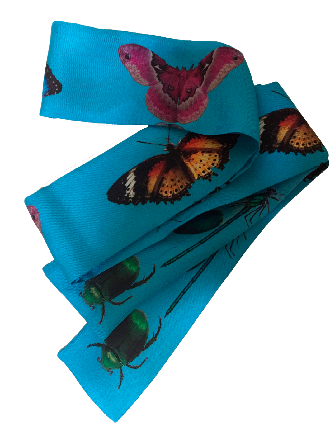 Butterflies Are Free Silk Neckie scarf Willow and Wyrd