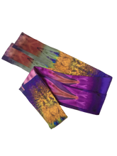Load image into Gallery viewer, Iris Silk Neckie scarf Willow and Wyrd