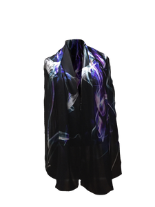 LINE IN SPACE SILK SATIN SCARF