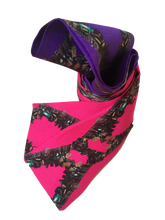 Load image into Gallery viewer, Locks of Love Silk Neckie scarf Willow and Wyrd