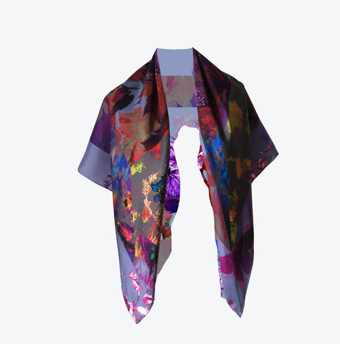 MAD ABOUT SPRING SILK TWILL SCARF
