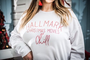 CHRISTMAS MOVES + CHILL SWEATSHIRT
