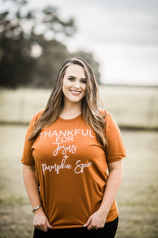 Thankful for Jesus and Pumpkin Spice Short Sleeve Unisex