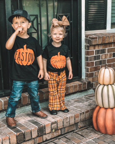 Custom Pumpkin Name Tee