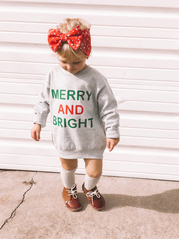 MERRY AND BRIGHT TODDLER SWEATSHIRT
