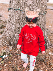 CHRISTMAS MOVIES + CHILL TODDLER SWEATSHIRT