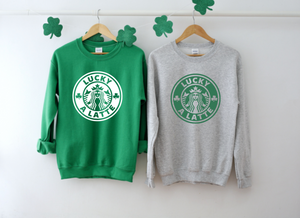 Lucky A Latte Adult Sweatshirt