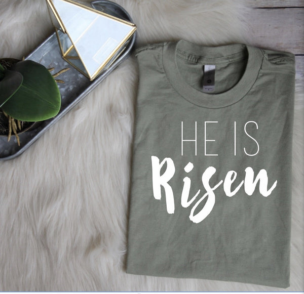 He Is Risen Shirt // Women's Easter Shirt // Easter Top // Ladies Easter Shirt // Christian Easter Shirt // He Is Risen Indeed