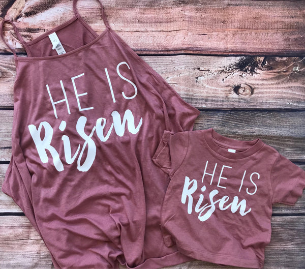 SALE He Is Risen Child Christian Easter shirt, baby Christian Easter Shirts, Christian shirts for kids, Christian Easter kids shirts