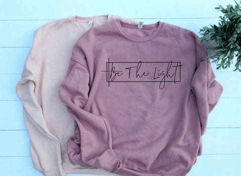 Be The Light Unisex Drop Shoulder Sponge Fleece Sweatshirt