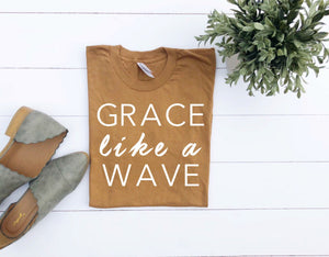 Christian T-shirts, Grace Like A Wave/Women's Christian Graphic Tee, Christian Shirts, Faith TShirts, Christian T shirts woman, Grace shirts