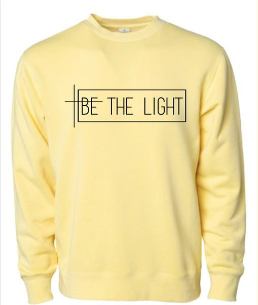 BE THE LIGHT UNISEX PIGMENT DYED SWEATSHIRT
