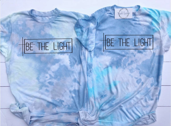BE THE LIGHT UNISEX TIE DYED T-SHIRT